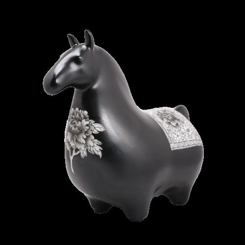 Dessin Horse Modele (Noir)