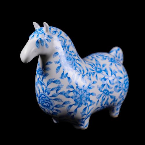 Dessin Horse Fleur (Porcelain)