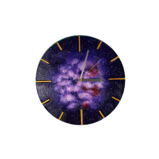 Galaxie Clock (Violet)