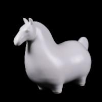 Dessin Horse Solide (Blanc)